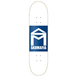 SK8 Mafia House Logo Double Dip Skateboard Deck - White 8.25