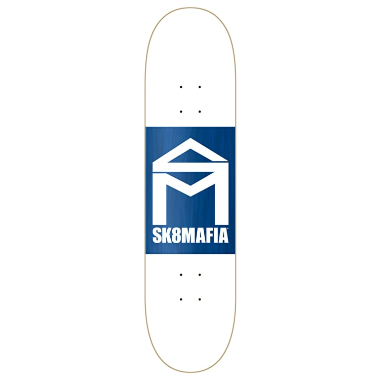 SK8 Mafia House Logo Double Dip Skateboard Deck - White 8.25""
