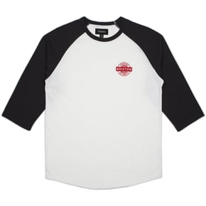 Brixton Speedway 1/2 Sleeve T-Shirt - Off White/Washed Black