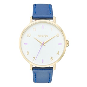 Nixon Arrow Womens Leather Watch - Grey/Navy