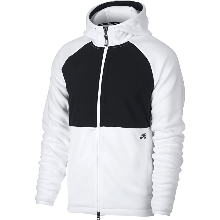 Nike SB Winterized Zip Hoodie - White/Black/Black