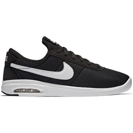 Nike SB Air Max Bruin Vapor Textile Skate Shoes - Black/White