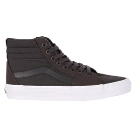 Vans Sk8-Hi Skate Shoes - (Mono Canvas) Asphalt
