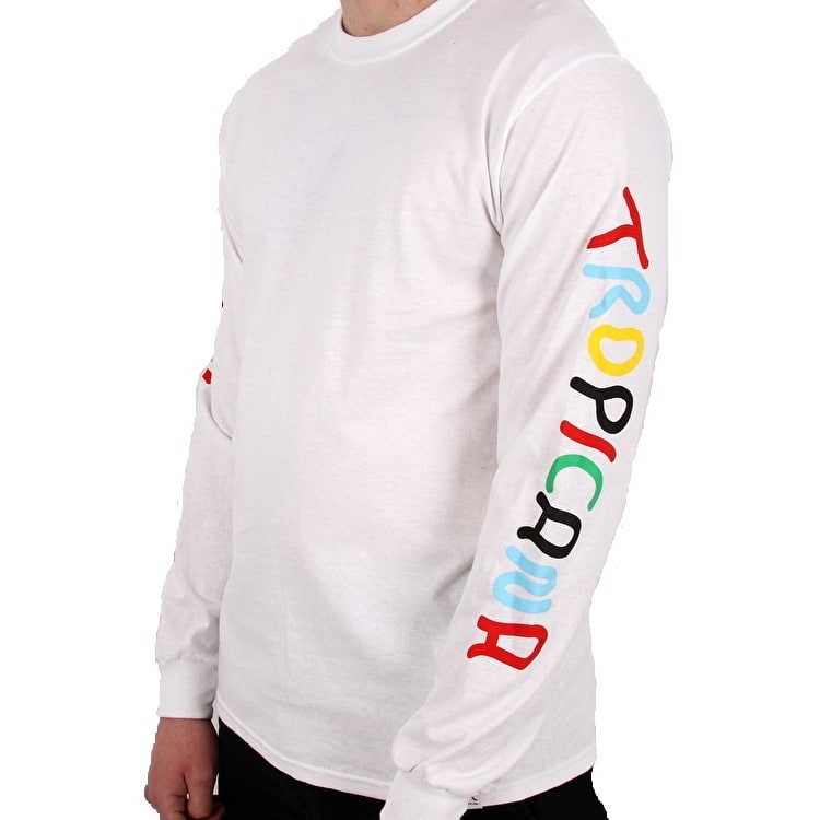 Diamond Supply Co Tropicana Long Sleeve T shirt - White
