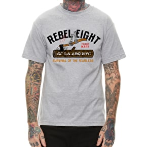 Rebel8 Survival Of The Fearless T-Shirt - Heather Grey