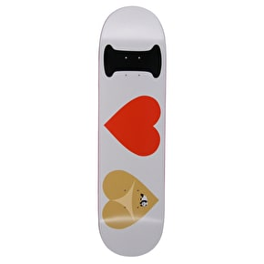 Enjoi I Heart Hearts R7 Skateboard Deck - White 8.375
