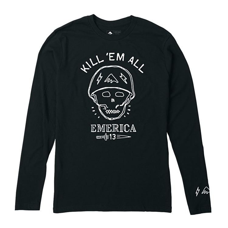 Emerica Kill Em All Long Sleeve T shirt - Black