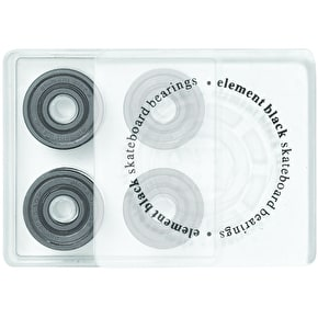 Element Black Skateboard Bearings - ABEC 7