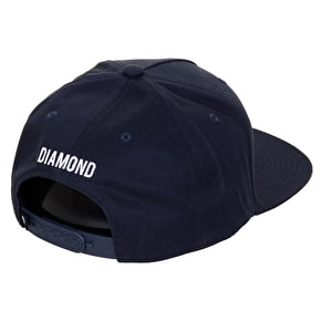 Diamond Brilliant Snapback Cap - Navy