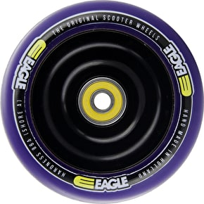 Eagle Anodized Black Full Metal Core Purple PU Wheel - 110mm