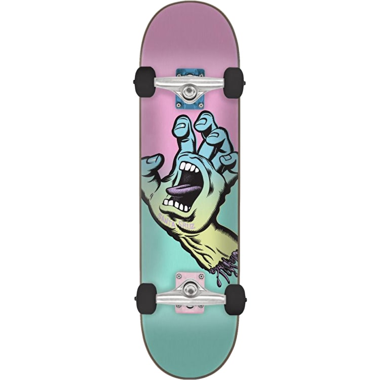 Santa Cruz Pastel Screaming Hand Mini Complete Skateboard - Teal/Pink 6.75""