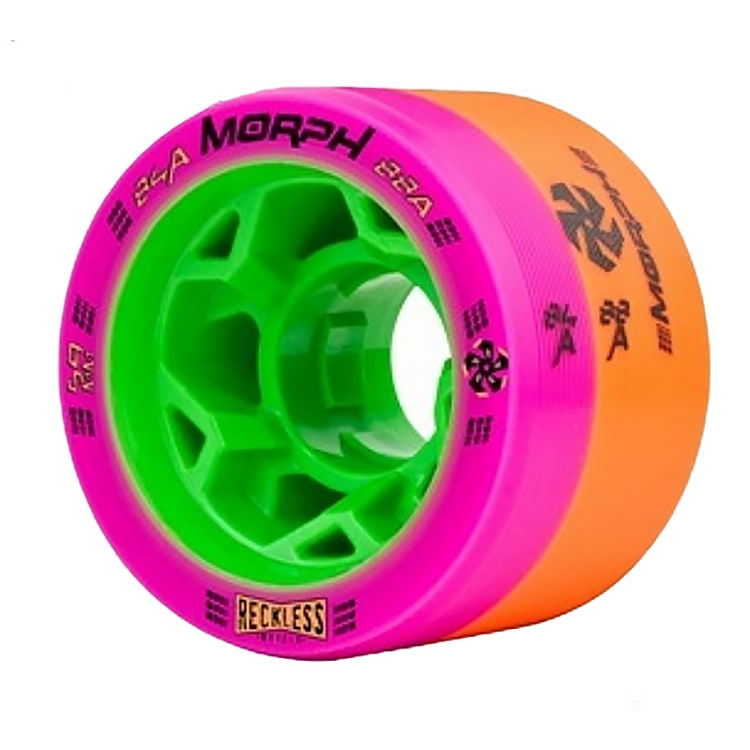 Reckless Morph Dual Durometer Derby Wheels-84/88A Pink