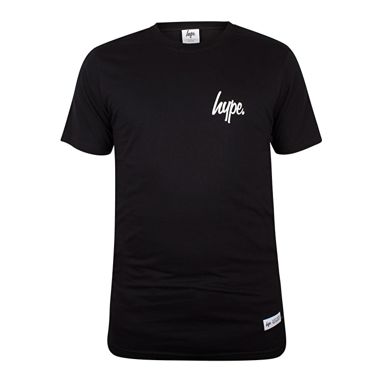 Hype Mini Script T-Shirt - Black/White