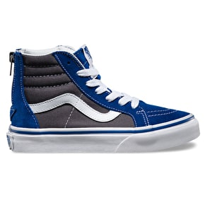 Vans Sk8-Hi Zip Kids Shoes - True Blue/Asphalt