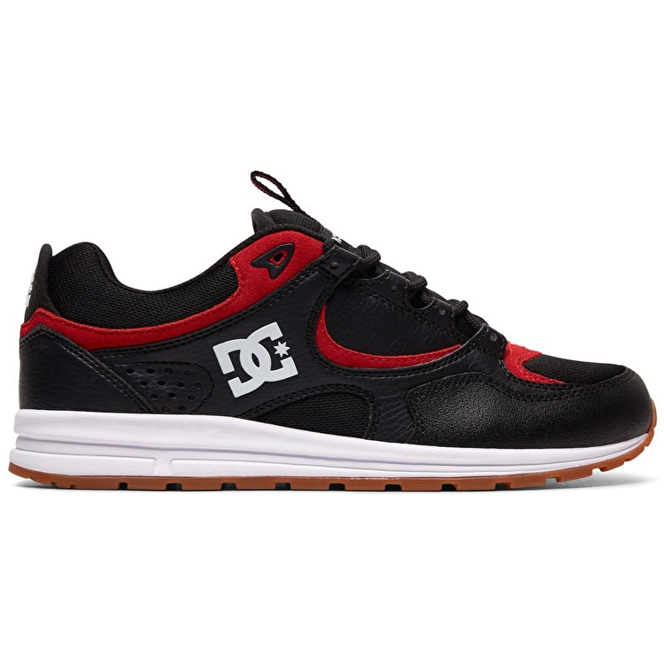 DC Kalis Lite Skate Shoes - Black/Athletic Red