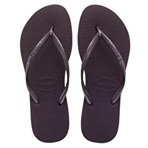B-Stock Havaianas Slim Brazil Flip-Flops - Aubergine -  UK 5 (Box Damage)