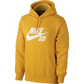Nike SB Icon Hoodie - Yellow Ochre/White