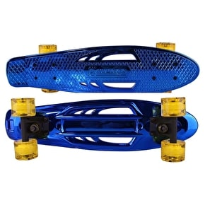 Karnage Chrome Retro Skateboard - Blue/Yellow