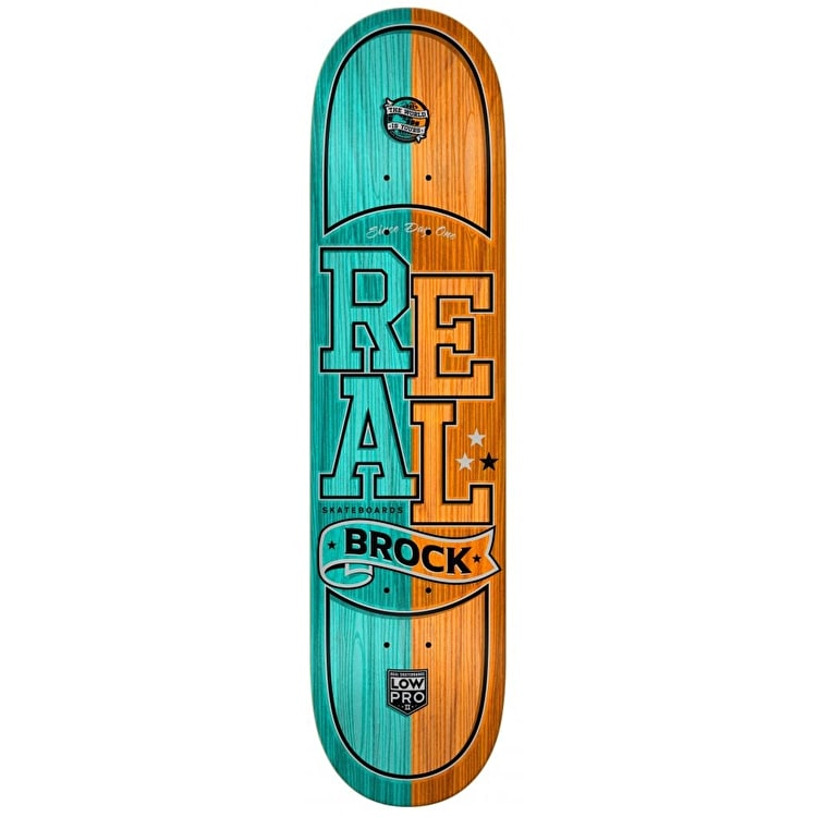Real Low Pro Brock Timber LTD Skateboard Deck - 8.25""