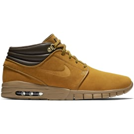 Nike SB Stefan Janoski Max Mid Premium Skate Shoes - Bronze/Bronze Gum/Light Brown