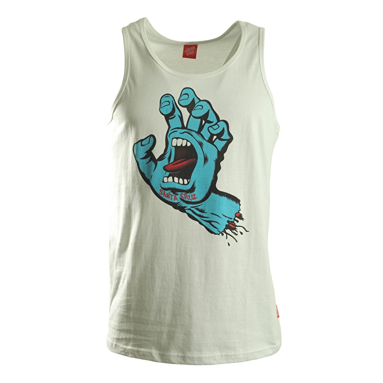 Santa Cruz Vest - Screaming Hand White