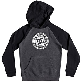 DC Circle Star Boy Pullover Hoodie - Black/Heather Grey