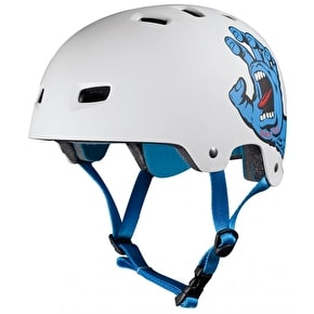 B-Stock Bullet / Santa Cruz Colab Screaming Hand Graphic Helmet - White - S/M Adult 54-57cm (Box Damage)