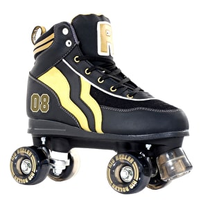 B-Stock Rio Roller Varsity Quad Skates - Black/Gold - Junior UK 13 (box damage)