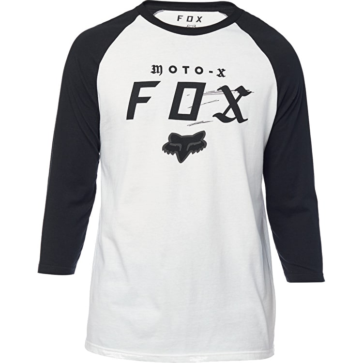 Fox Moto-X Premium Raglan Long Sleeve T Shirt - White/Black