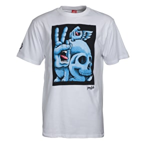 Santa Cruz Fish Hand T-Shirt - White