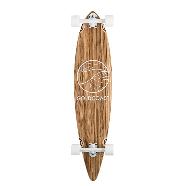 Goldcoast Classic Pintail Complete Longboard - Zebra 44""
