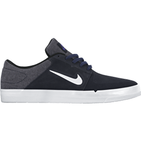 Nike SB Portmore Shoes - Dark Obsidian/White