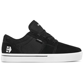 Etnies Barge LS Kids Skate Shoes - Black/White