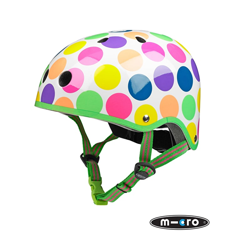 Micro Safety Helmet - Neon Dot