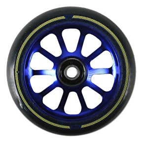 AO Mandala 10 Hole 100mm Scooter Wheel - Blue