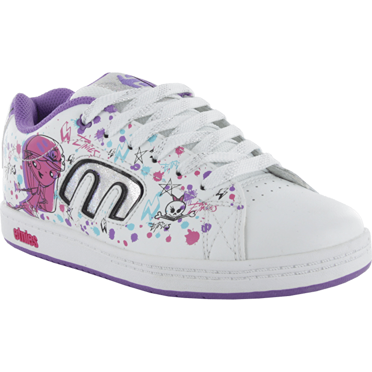 Etnies Kids Callicut 2.0 Disney Skate Shoes - White/Lavender