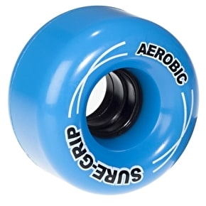Sure-Grip Aerobic Quad Skate Wheels - Blue 62mm 85A (8 Pack)