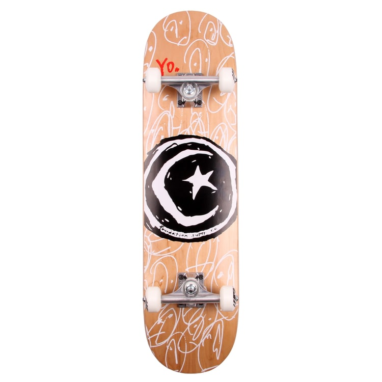 Foundation Star & Moon Yo! Complete Skateboard - 8.0""