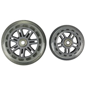 JD Bug Junior Street 120mm/100mm Scooter Wheels - Clear w/Bearings