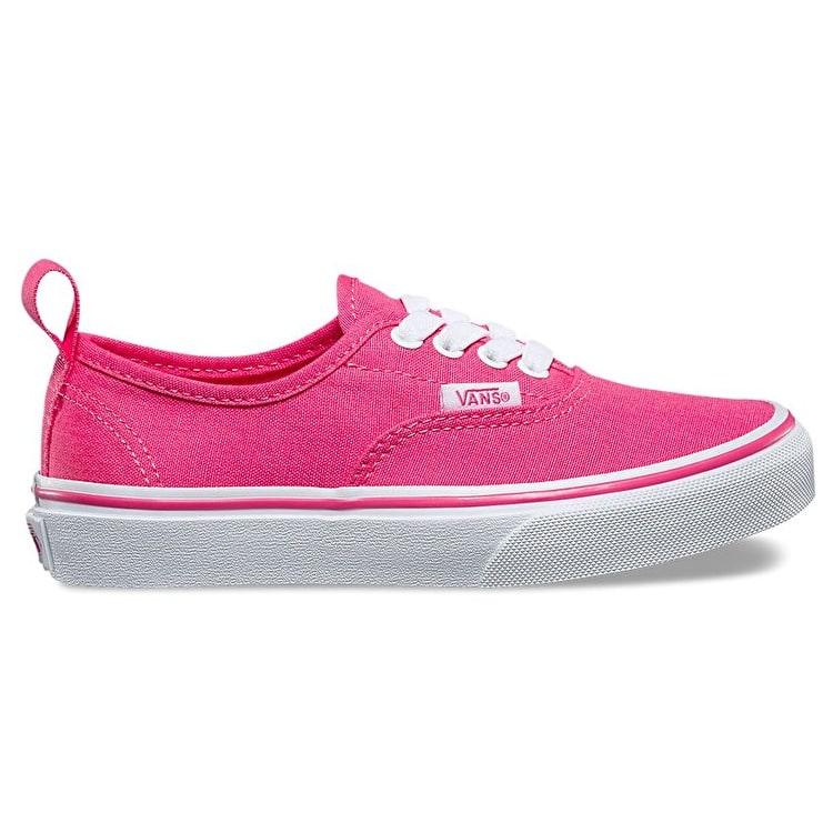Vans Authentic Elastic Skate Shoes - Hot Pink/True White