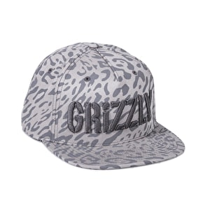 Grizzy Trippy Trail Snapback Cap - Grey