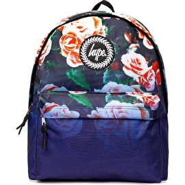 Hype Navy Floral Fade Backpack - Multi