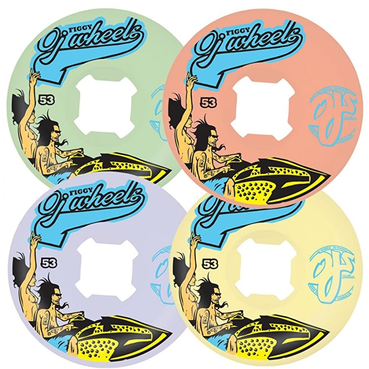 OJ Figgy Jetski 101a Pro Skateboard Wheels - 53mm