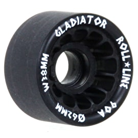 Roll Line Gladiator Roller Derby Wheels 62mm 90a - Black