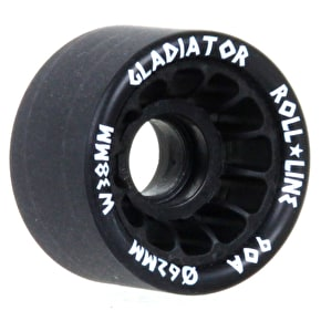 Roll Line Gladiator Roller Derby Wheels 63mm 90a - Black