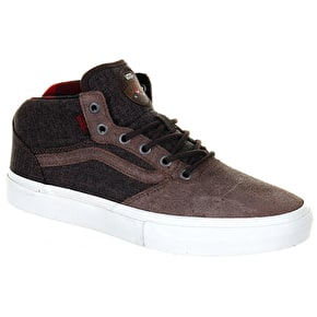 Vans Gilbert Crockett Mid Pro Shoes - (Twill) Brown