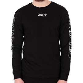Hype Outlines Long Sleeve T-Shirt - Black