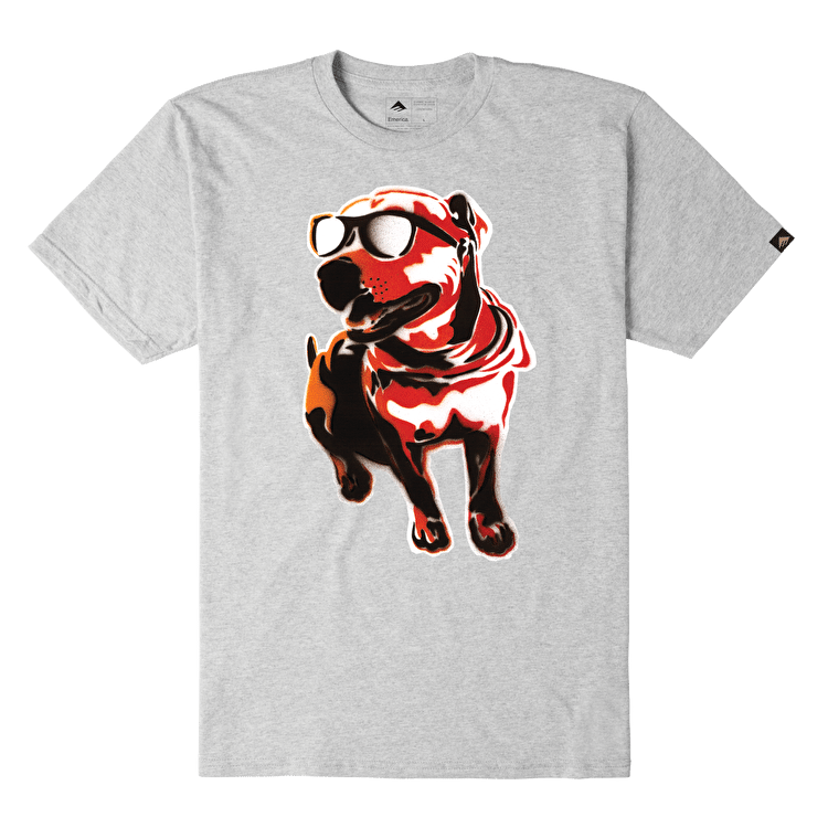Emerica X Mouse Chief Dog T-Shirt - Grey/Heather