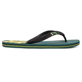 DC Spray Flip-Flops - Green/Yellow