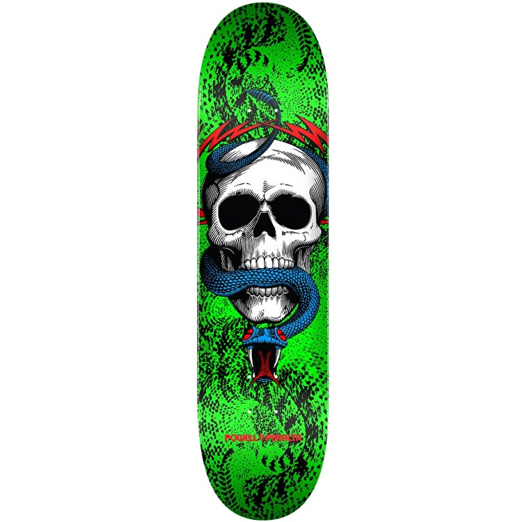 Powell Peralta One Off Skull & Snake Skateboard Deck - Green 7.75""